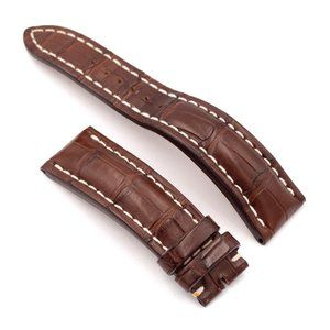 BREITLING Brown Croco Leather Strap, 24-20mm
